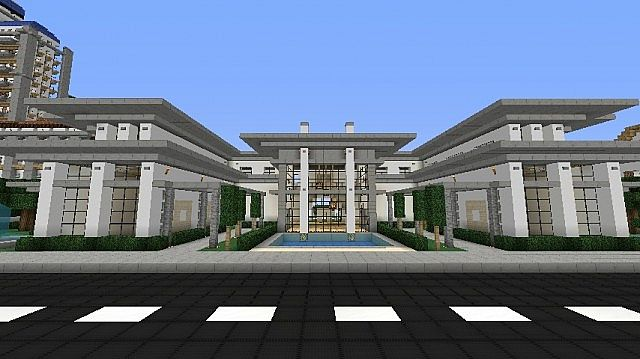 Modern house mansion schematic download minecraft project for Modern house mansion