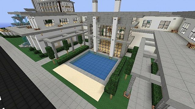 Modern house mansion schematic download minecraft project for Modern house schematic