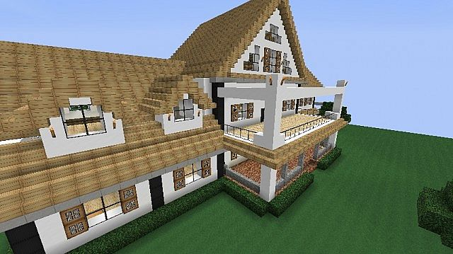 Modern mansion world schematic minecraft project for Minecraft big modern house schematic