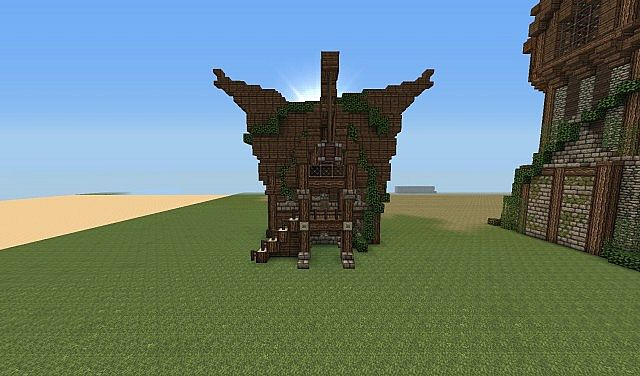 Elven House Design Minecraft Project
