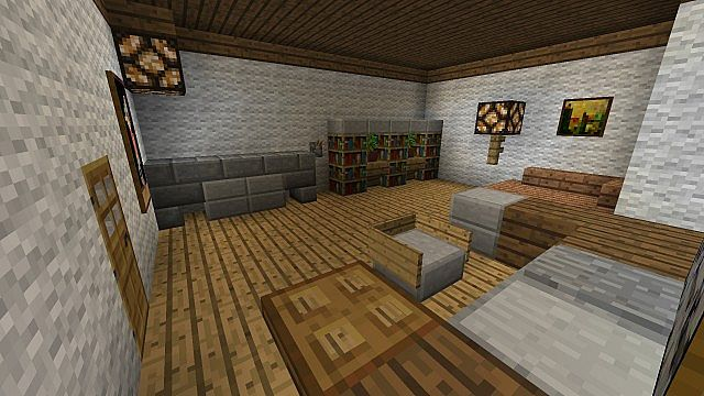 arbeitszimmer home office minecraft project. Black Bedroom Furniture Sets. Home Design Ideas