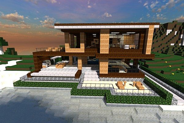 Modern house contemp inc minecraft project for Modern house front view