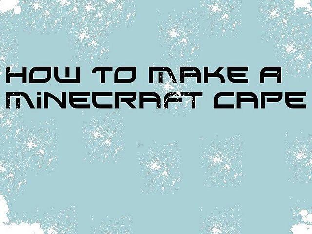 how to make smoke cape minecraft