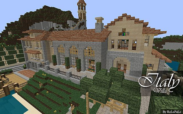 Italian villa at wok minecraft project - Minecraft villa ...