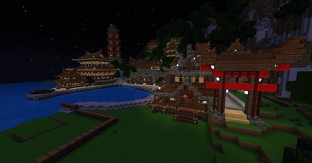 The Village at Night by Tototor