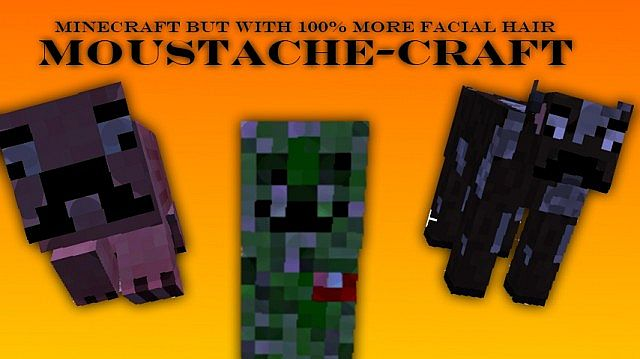 Moustache Mobs... and a smiling Creeper