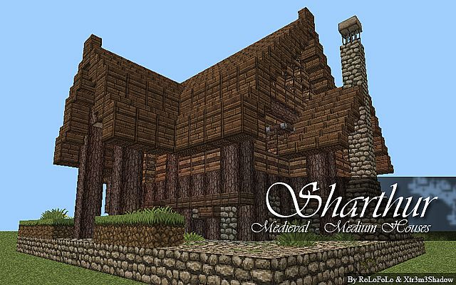 medieval 3x medium size houses minecraft project