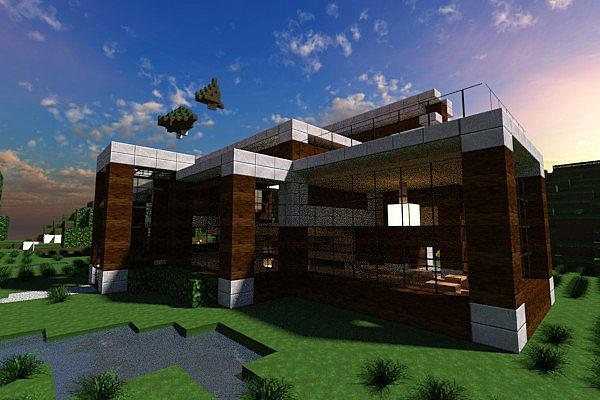 Casa moderna modern house contemp inc minecraft project for Casa moderna 2 minecraft