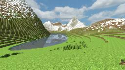 Custom Terrain: Norwegian Mountains and Valleys Minecraft Map & Project