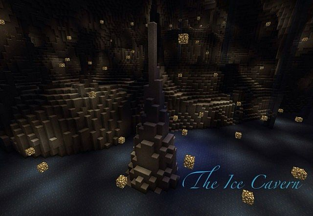 Minecraft Man Cave Ideas : The ice cavern caved in contest minecraft project