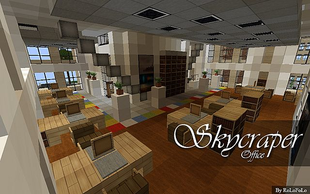 Modern victorian skyscraper building at wok 85 subs for Office design minecraft