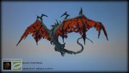 Smaug Over Hobbiton - Minecraft the Hobbit