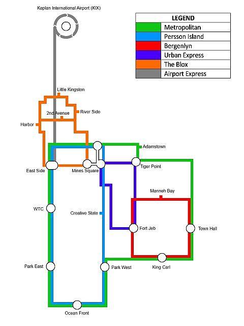 New Port Notch METRO map