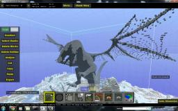 Large Dragon (stone base without color) Minecraft Map & Project