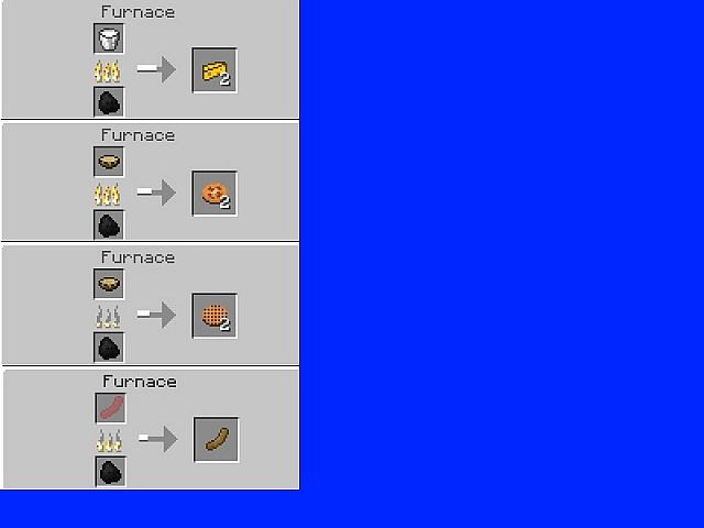 Numa 39 s food mod 1 4 6 7 minecraft mod for How to craft a furnace in minecraft