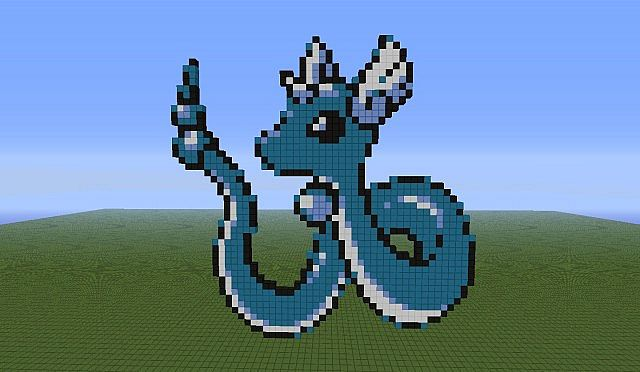 Pokemon pixel art 141 160 minecraft project