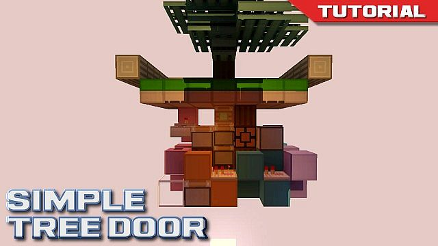 how to build a hidden door in minecraft pc