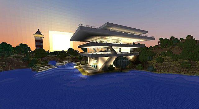 Strandhaus modern  Die Strandhäuser Minecraft Project