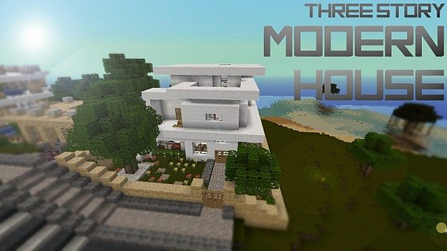 Three Story Modern House Minecraft Project
