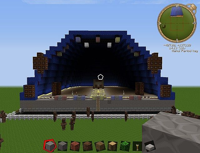 how to make a stage in minecraft