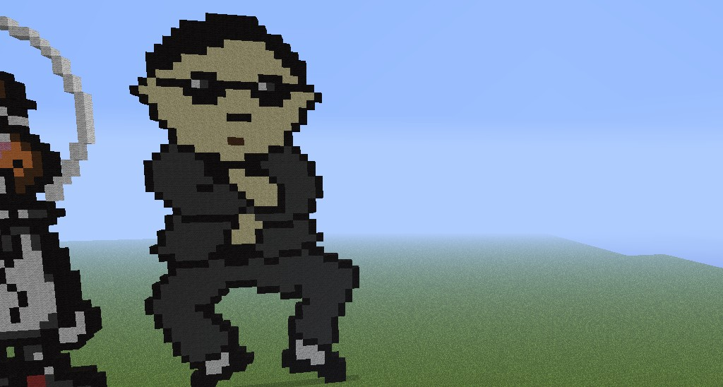 psy gangnam style challenge me guys minecraft project