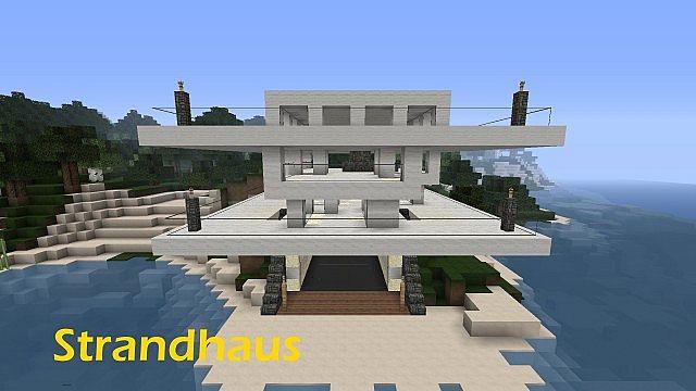 First Beach HouseDas Große StrandhausStrandhaus Finish - Minecraft schone hauser
