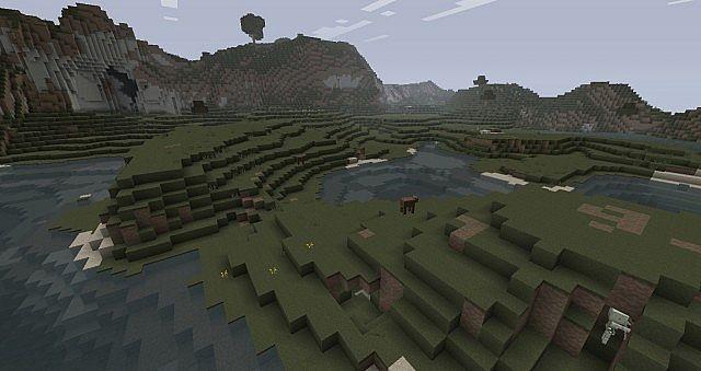 The land we've just terraformed for the second settlement.