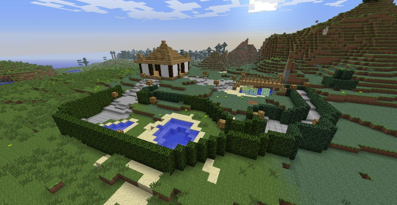 some asian zen garden thing minecraft project - Japanese Zen Garden Minecraft