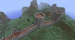 DRAPE - MCEdit filter that drapes your constructions over the landscape Minecraft Mod