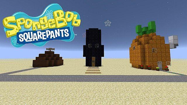 Карта Спанч Боб (Губка Боб) для Minecraft - скачать для 1.5.2.