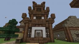 Japanese/Chinese Style miny Pagoda Minecraft Map & Project