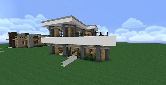 Simple compact modern house minecraft project - Simple modern house minecraft ...