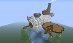 Raw Fish ( a steampunk airship ) Minecraft
