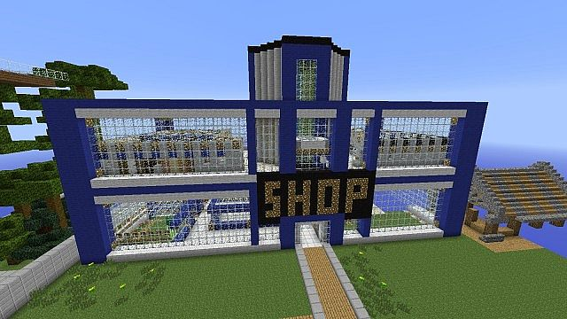 shopping center minecraft project