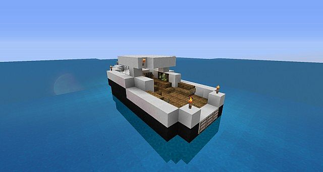 Fishing Boat Minecraft Project