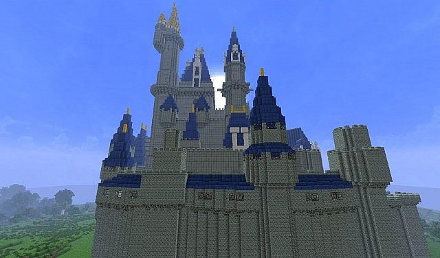 Build Disney Castle Minecraft