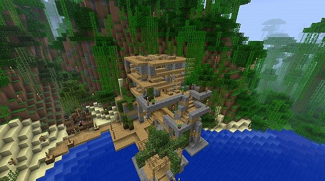 Jungle House 2 2nd Update Minecraft Project