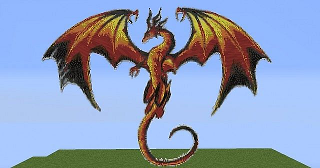 how to make a fire dragon in minecraft