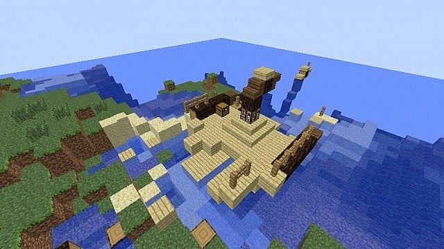 Sunken Pirates Survival Island Minecraft Map