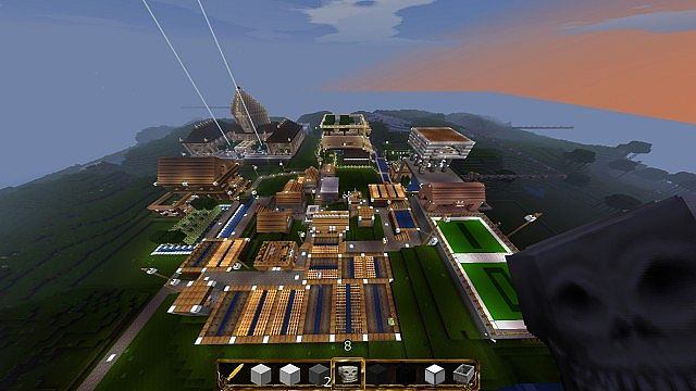 how to build a small city in minecraft