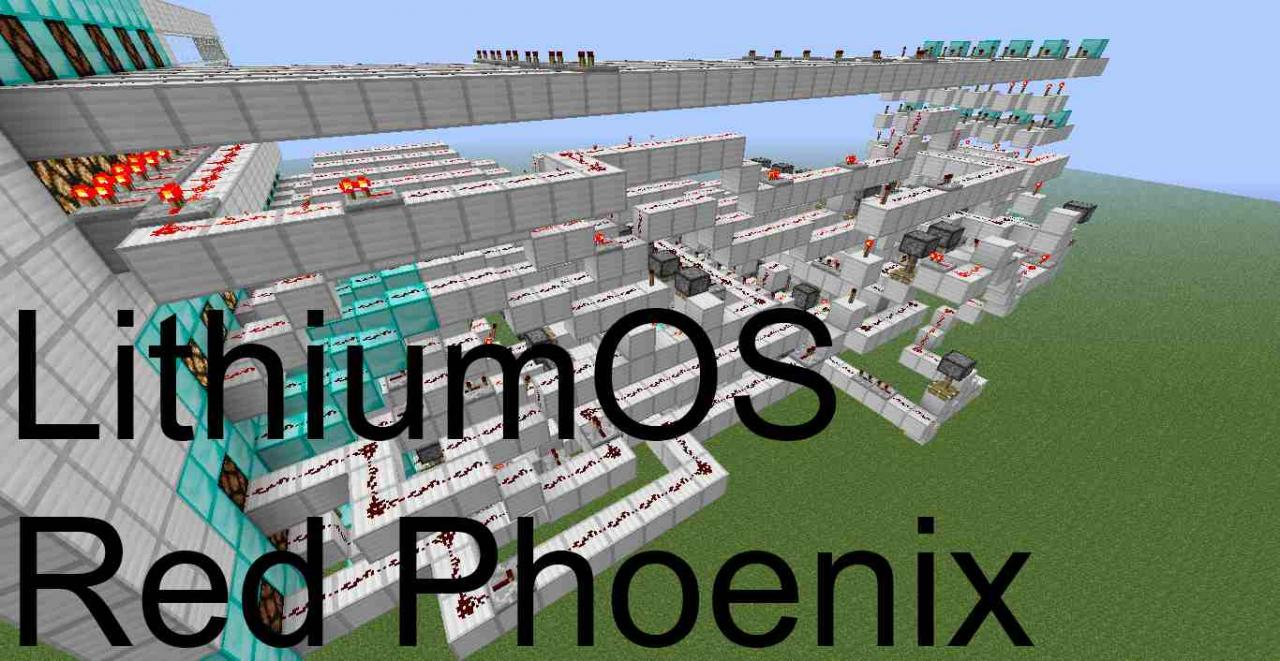 LithiumOS Redstone Computer (Red Phoenix) Minecraft Project