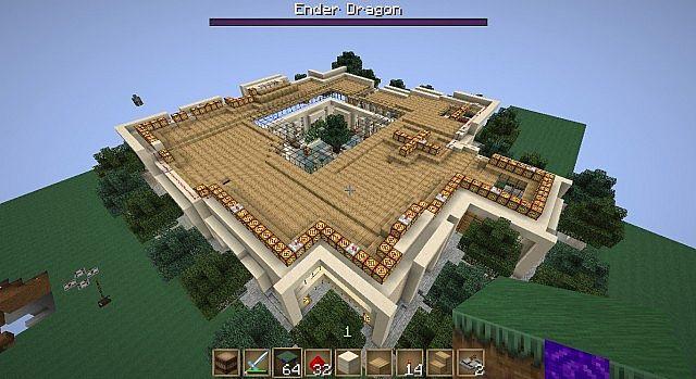 Big Modern House Mansion Minecraft Map