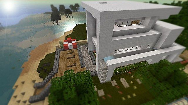 Three Story Modern House Minecraft Project