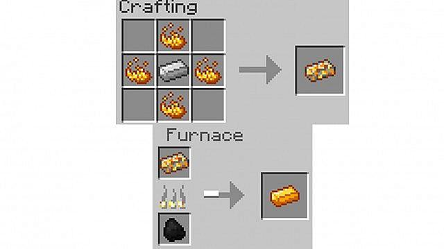 Unfinished Blaze Ingot and Blaze Ingot