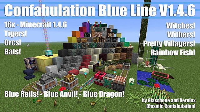 Confabulation Blue Line V1.4.6 [16x] [Fluffy Snow/Hypno-beam]