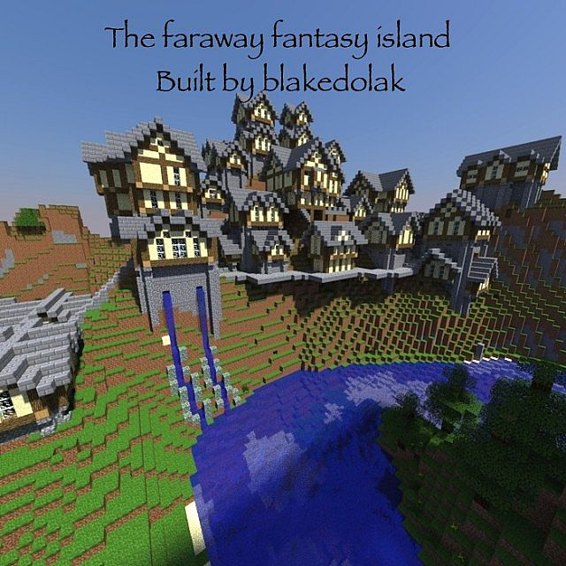 A Faraway Fantasy Town Minecraft Project