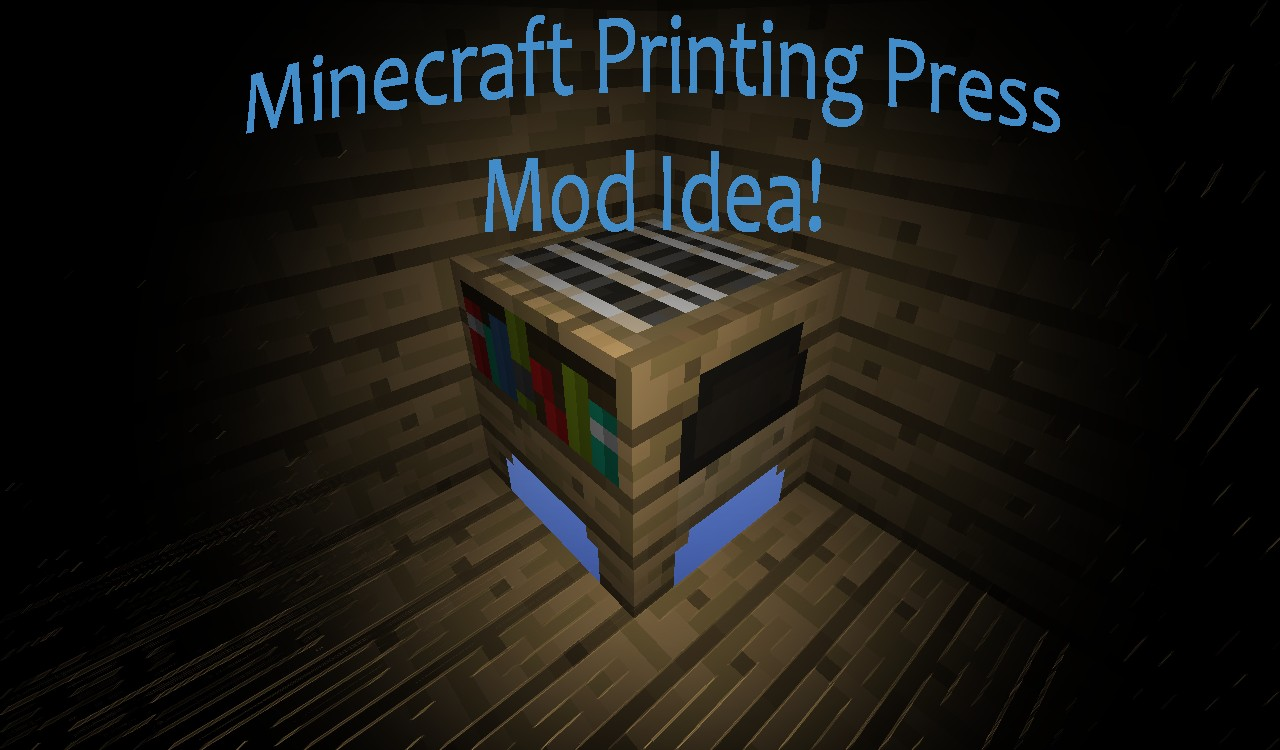 how to use a printing press in minecraft