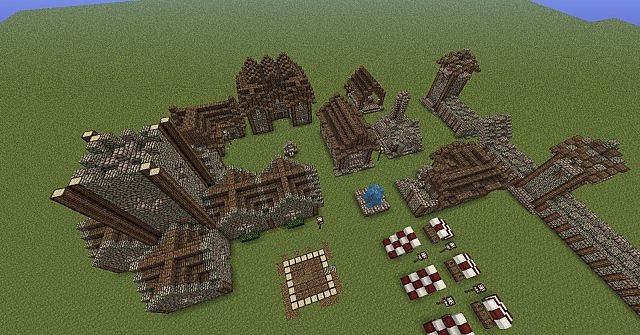 Planning The Layout Of The Village Before Moving Buildings Onto The New Map.