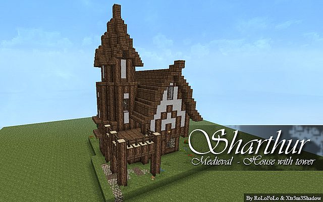 Medieval House With Tower Sharthur Minecraft Project