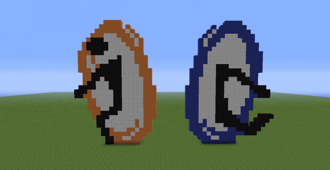 Portal 2 Logo pixel art Minecraft Project